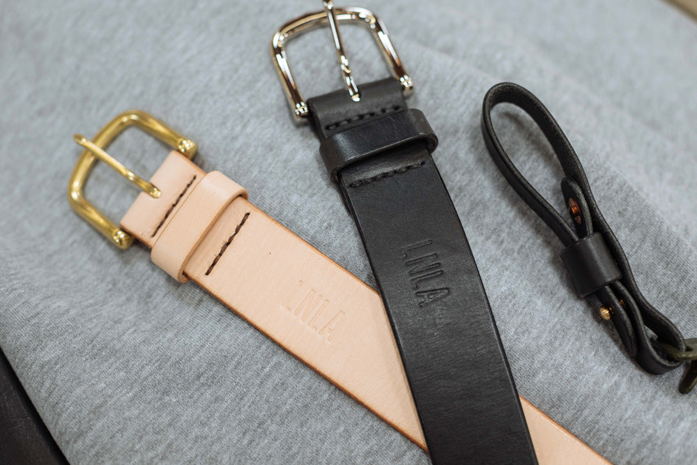 LNLA X Stockton Goods Leather Belt