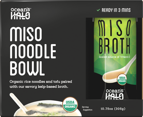 Organic and Vegan Instant Miso Noodle Bowl
