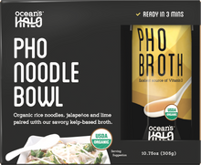 Load image into Gallery viewer, Organic and Vegan Gluten-free Instant Pho Noodle Bowl
