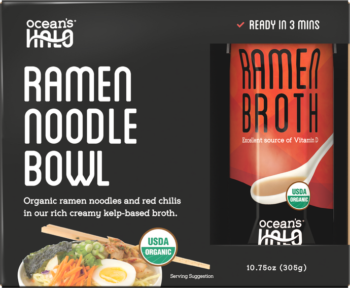 Organic and Vegan Instant Ramen Noodle Bowl
