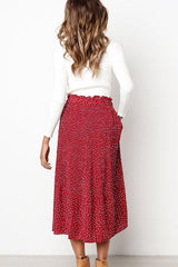 6 Colors Polka Dot Print Pleated Skirt