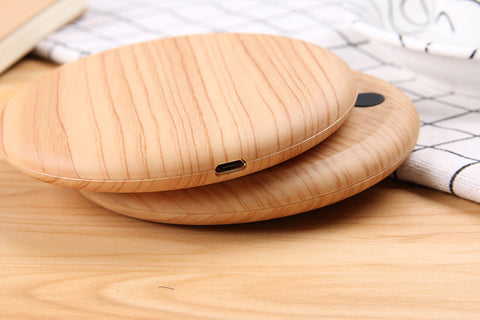 10W wood grain mobile phone wireless charger
