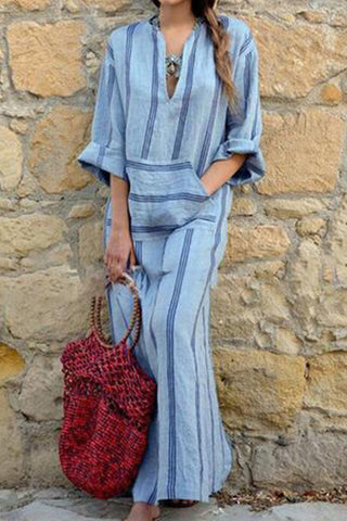 Chicseagal Cotton And Linen Maxi Dresses