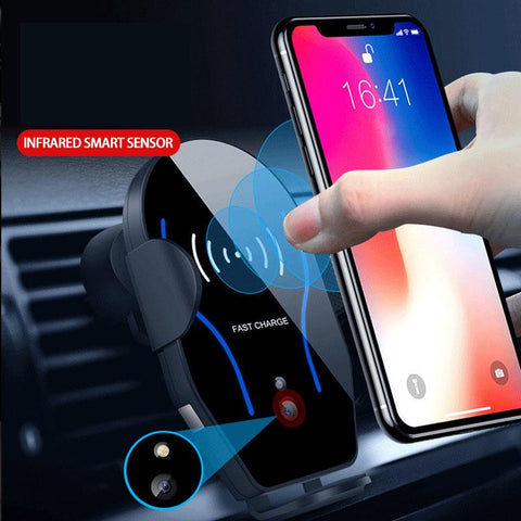 Intelligent sensor wireless charger for car