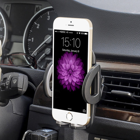 Car Mount Phone Holder Compatible With iPhone 5/5S/6/6S/7/8/X And Other Phones