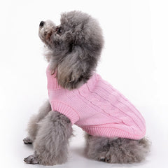 Chicseagal Solid Color Cute Dog Clothing