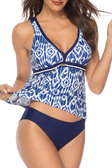 Chicseagal Digital Printing Sport Tankini Set