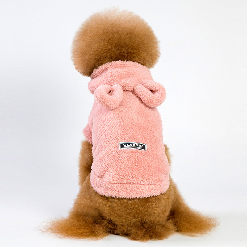 Chicseagal Plush Solid Color Dog Clothing