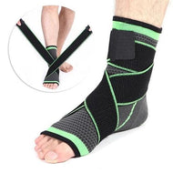 Ankle Brace Compression Sleeve with Adjustable Stabilizer Straps