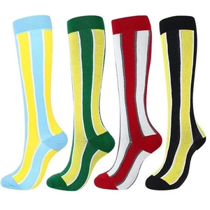 Stripe compression socks