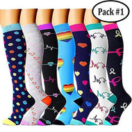 {Last Day Promotion 50% Off!} Compression Socks (7/8 Pairs) for Women & Men