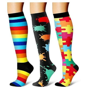 Compression Socks (3 Pairs) for Women & Men