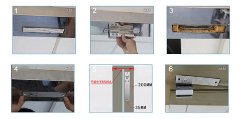 electric lock install steps