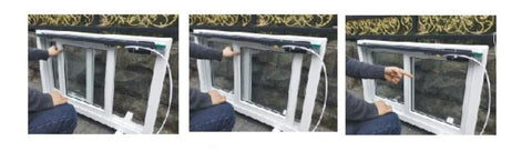 automatic sliding window opener installation step 2