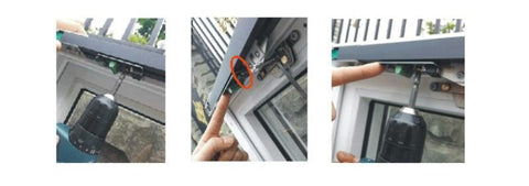 automatic sliding window opener installation step 4