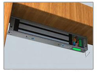 magnetic lock for automatic swing door installation