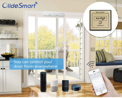 Alexa voice control automatic sliding door opener