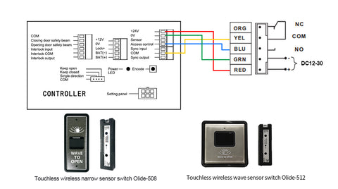 wiring diagram with wireless wave to open switch