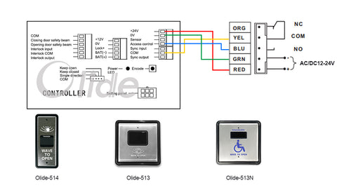 wiring diagram with wired wave to open switch