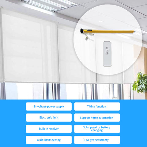 roller shade motor features