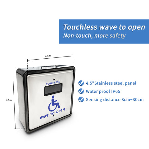wireless touchless activation handicapped sensor switch