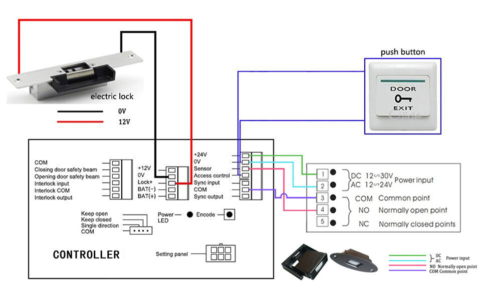 wiring diagram of SW120 swing door closer