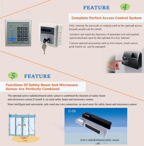 olide SD280 automatic sliding door opener features
