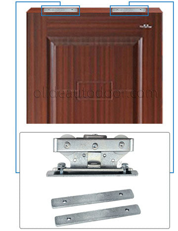 framed automatic sliding door
