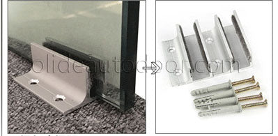 floor guide for frameless glass sliding door