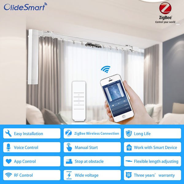 phone control smart curtain system