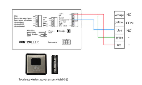 M512 wave to open switch wiring diagram