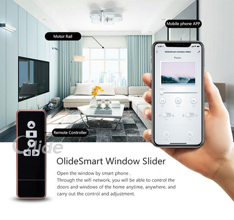 Smart phone control automatic sliding door
