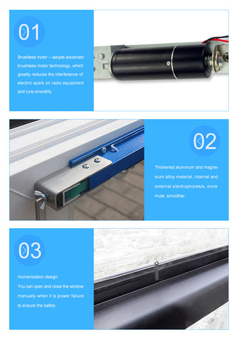automatic sliding window opener features