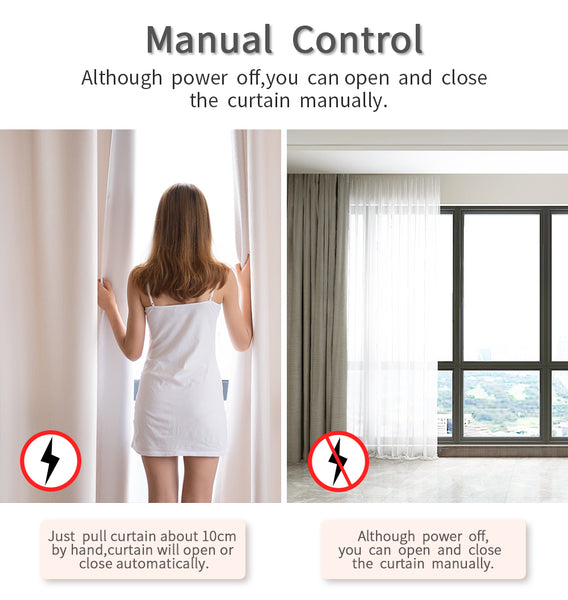 smart curtain system manually open function