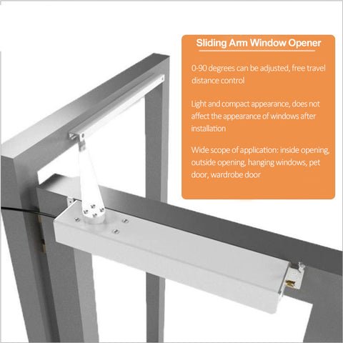 automatic swing open window opener features