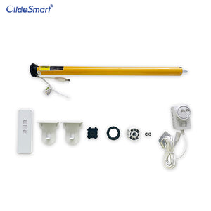 olidesmart am25 roller shade motor with solar panel