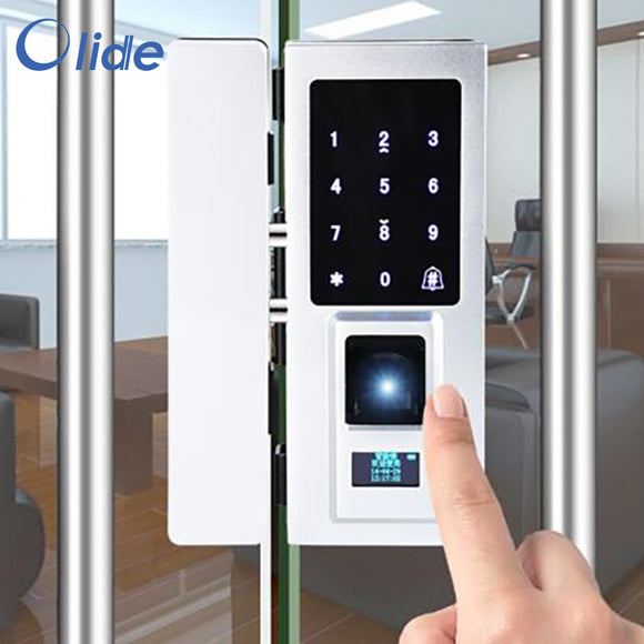 fingerprint lock for automatic sliding glass door