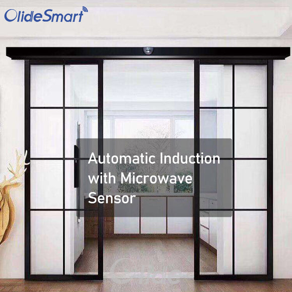automatic sliding door with microwave sensor