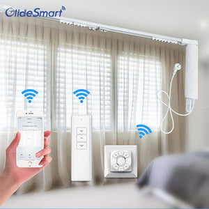 Olide Wifi Smart Curtain Motor Tracking Sytsem Alexa Echo Google Home Workable
