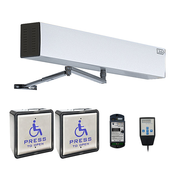 automatic handicap door opener with wireless handicapped push switch