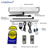olidesmart automatic swing door opener olide-120B with slim wired wave to open switch M-514