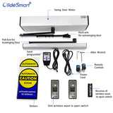 olidesmart automatic swing door opener olide-120B with slim wireless wave to open switch M-508