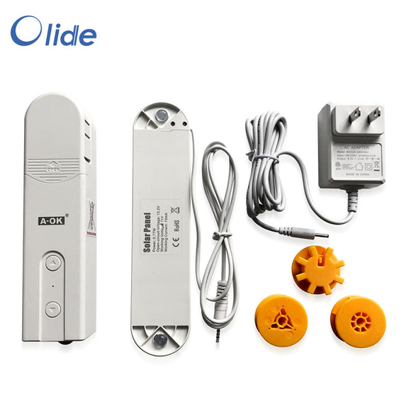 olide Smart Blinds Drive Motor, DIY Smart blinds, Motorized Window Blinds, Build-in Bluetooth and APP Control, Powered by Solar Panel and Charger