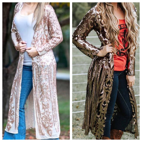 Sassy Southern Sequin Duster