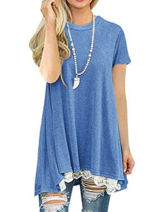 Tunic Blue w/Lace Bottom