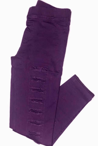 Purple distressed Jeggings