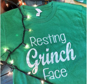 Resting GRINCH Face Tee