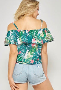 Terri Tropical Print Woven Top