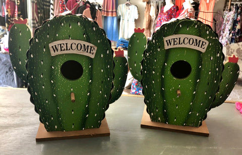 Cactus Welcome Bird House