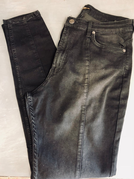 Black High Waist Skinny Stretchy Jeans